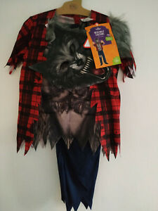 13479)Kids Werewolf costume various sizes BRAND NEW w tags Morrisons 5-12 years