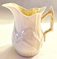 Belleek Creamer Lily Pattern 4th Green Mark 1946 to 1955 Excellent Condition VTG