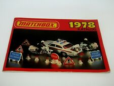 Matchbox Superfast 1978 Catalogue German Edition - No Graffiti - Near Mint RARE