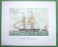 "FRENCH SHIP Brig ""Mon Plaisir"" - 1963 Fine Quality Color Print"