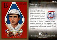 2019 Topps Update TRIS SPEAKER Iconic Card Reprint Insert Red Sox #ICR-36