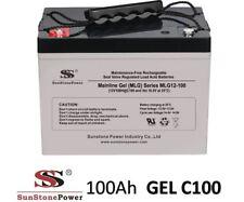 12V 100Ah Gel - Reine Bleigel Batterie Akku- USV Boot Wohnmobil Caravan C100