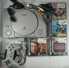 Sony PlayStation 1 Gray Console bundle with 4 games