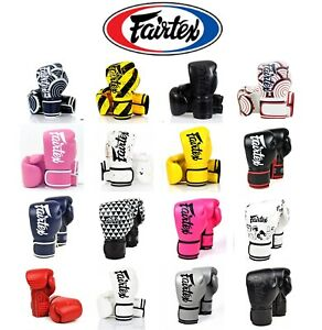 NWT Fairtex boxing gloves BGV14 Training Muay Thai Kick boxing MMA + RETAIL BOX