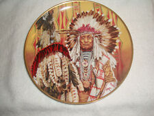 Franklin Mint - Chief of the Piegon Blackfoot - Native American Indian Plate