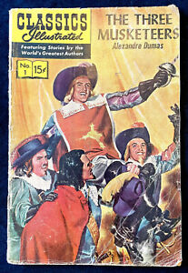 Classics Illustrated No.1 - The Three Musketeers, 1966, G+/VG Condition.