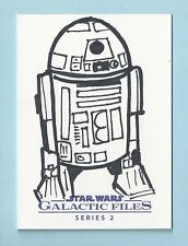 2013 STAR WARS GALACTIC FILES ARTIST SKETCH AUTOGRAPH AUTO 1/1 R2D2