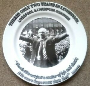 Bill Shankly Royal Heritage Fine China Plate Liverpool FC LFC