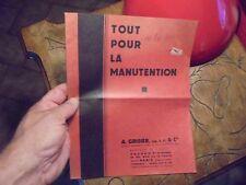 A Grissier Paris Ancien Outil de Manutention Chariot Remorque Voiture à Bras