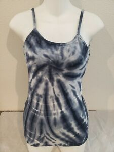 Hard Tail Forever Navy White Tie Dye Athletic Tank Top Size XS w/Bra Liner