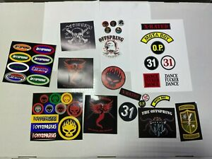 THE OFFSPRING 43 PIN PAD AND STICKERS,. PROMO ONLY