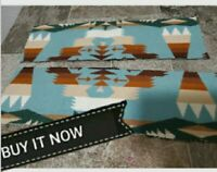 "PENDLETON WOOL BLANKET WT.  ""REMNANT""FABRIC TRIBAL 2 PIECES( UN NAPPED) USA NEW"