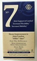 Solgar No 7 Joint Support & Comfort 90 Vegetable Capsules Exp 2021+ NEW/SEALED