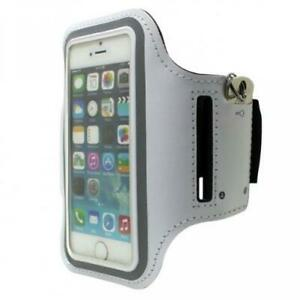 iPod Touch 5 6 7 Gen - RUNNING ARMBAND SPORTS GYM WORKOUT CASE COVER BAND WHITE