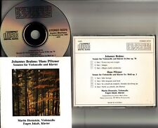 W.GERMANY PDO Brahms/Pfitzner: Cello & Piano Sonatas CD (Martin Hornstein/Jakab)