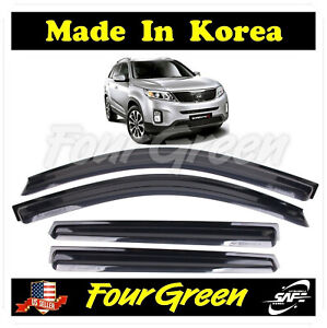 Smoked Window Sun Vent Visor Rain Guards for 2011-2014 Kia Sorento ⭐⭐⭐⭐⭐