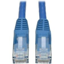 NEW N201-001-BL Cat6 Gigabit Snagless Patch Cable Network 1ft BLUE Tripp Lite