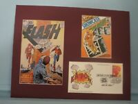DC Comic Book Hero Flash & First Day Cover of his own stamp