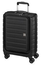 Business Reise Aktenkoffer Handgepäck Laptop Trolley 55 cm Schwarz USB Bowatex