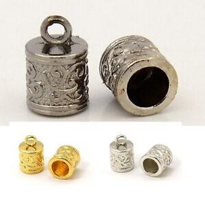 10-20 Endkappen Tibetstyle gold silber gunmetal Endstück Kettenverbinder