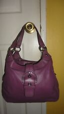 Coach  Lynn  3 Compartments purple Hobo handbag purse F17219
