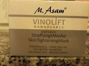 M.Asam VINOLIFT NANOPEARLS ANTIAGE STRAFUNGS MASKE-100ml -NEU!