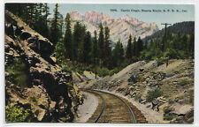 Railroad Track Castle Crag Shasta Route Sp Railroad California 1910c postcard