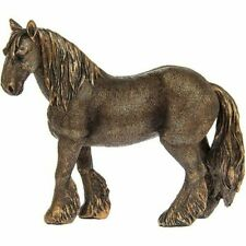 LEONARDO BRONZE REFLECTIONS SHIRE HORSE ORNAMENT