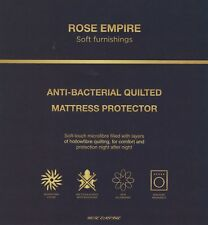 Quilted Mattress Protector Non Allergenic Machine Washable Fitted Sheet Bed Cove Single