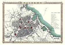 George Bradshaw'S CONTINENTAL Piano della città di Palermo 1896 - 1000 Pezzo Puzzle