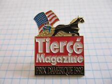 HORSE PIN BADGE CHEVAL TIERCE PARIS GRAND PRIX AMERIQUE 1992 VINTAGE PINS Bt*18