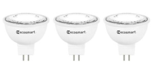 1 Case 18 Bulbs EcoSmart LED 35w Replacement Bright White GU5.3 Dimmable MR16