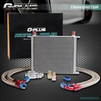 30 Row AN-10AN Universal Engine Transmission Oil Cooler +Filter Adapter Hose Kit