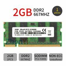 2GB 1GB DDR2 PC2-5300S 667MHz 2Rx8 CL5 1.8V 200Pin Non ECC SODIMM Laptop RAM CA
