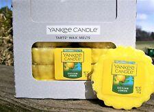 "Box Lot of 24 Yankee Candle ""SICILIAN LEMON"" Tarts Wax Melts NEW!"