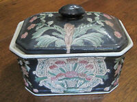 "VINTAGE & EXQUISITE CHINESE EXPORT PORCELAIN HAND PAINTED 5 1/4"" X 7 1/4"" BOX"