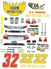 #32 Jason White Gunbroker 2011 1/32nd  Scale Slot Car Waterslide Decals