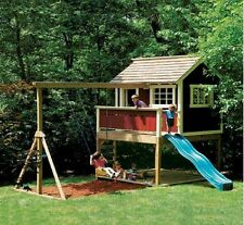 Kids Playhouse Swing Set Detailed woodworking plans (Blue Prints) in PDF