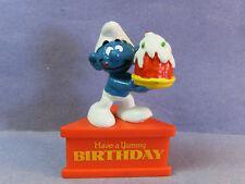 SMURF A GRAM -- Base Stand -- Yummy Birthday  RARE!!