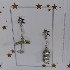 """LUNCH AT THE RITZ VINTAGE """"7th Ave. & Broadway"""" EARRINGS – POSTS - RARE"""