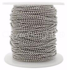 Ball Chain Spool - 30 Feet - Antique Silver Color - 1.5mm Ball - 10 Yards Bulk