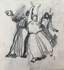 NOEL FEUERSTEIN (1904-1998) PROJET DE SCULPTURE  ART DECO VERS 1930 (160)