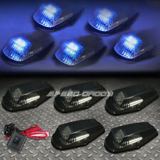 FOR 80-96 F-SERIES PICKUP 5PCS SMOKED BLUE LED CAB ROOF RUNNING LIGHTS+SWITCH
