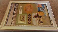 Refugee Tribute-Framed Art-World Refugee 4 cent stamp-Collectible-Free Ship