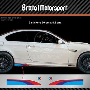 0505 Sticker bande BMW serie 3 G20 F30 F31 E90 E91 E92 M3 adesivi M-POWER