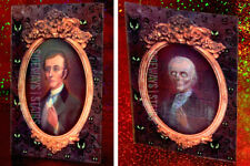 THE HAUNTED MANSION LENTICULAR POSTCARD ghost portrait rare retired Disney art