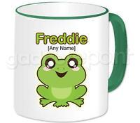 Personalised Gift Animal Happy Frog Coffee Tea 11oz Mug Any Name Any Message Cup