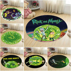 Morty and Rick area carpet washable living room carpet bedroom floor mats round¥