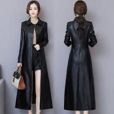Korean Ladies Single Breasted Long Trench Coat Outwear New Windbreaker Jacket Sz