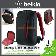 17'' laptops / Notebooks Back Pack Impulse Line Slim Jet/cabernet Belkin NEW